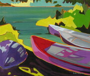 Boats at Cusheon Lake, Saltspring